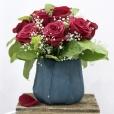 Centro  de rosas rojas Romance