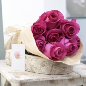 Ecobox Rosas al Natural Fucsias