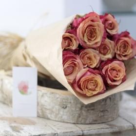Ecobox Rosas al Natural Naranjas