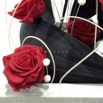 Comprar centro de rosas rojas