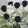 Ramo de Rosas Preservadas Negro