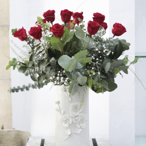 Ramo de Rosas Preservadas Rojo