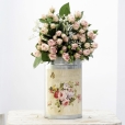 Bouquet Spray Crema Rosa